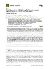 Drift Correction of Lightweight Microbolometer Thermal